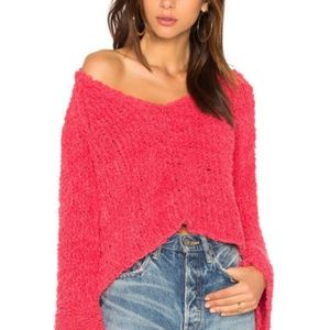 Sand Dune Knit Pullover Chunky Sweater Pink